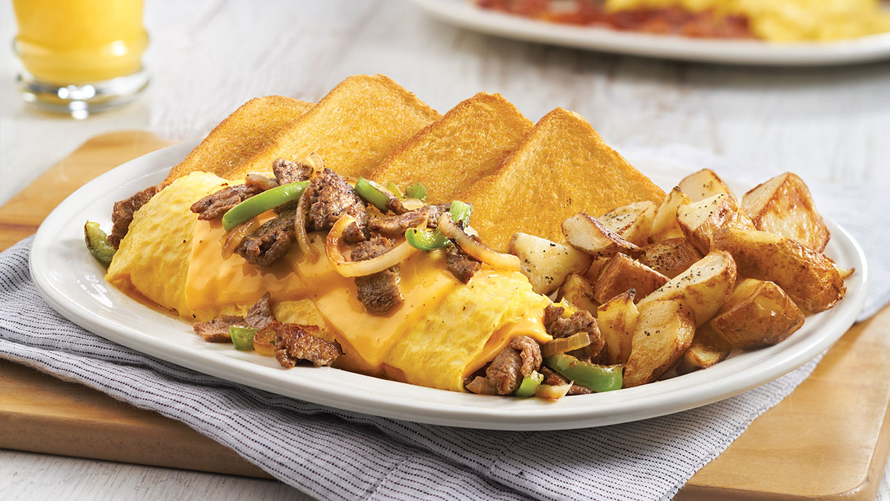Philly Steak and Cheese Omelet