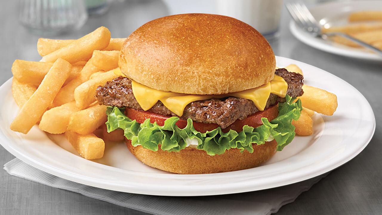 Quarter Pound Cheeseburger(t) & Fries