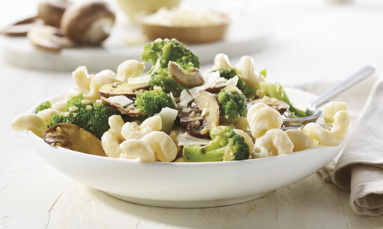 Broccoli Mushroom Mac & Cheese