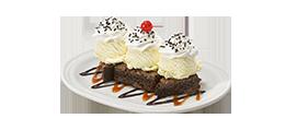Caramel Fudge Brownie Sundae