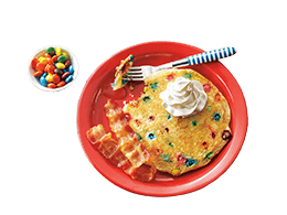 Tie-Dyed Pancake with M&M's