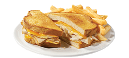 Turkey Cheddar SuperMelt(R) Sandwich & Fries