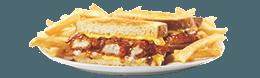 Honey BBQ Chicken SuperMelt(R) Sandwich & Fries