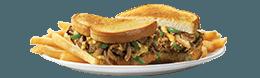 Philly Steak & Cheese SuperMelt(R) Sandwich & Fries